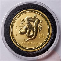 2001 1OZ GOLD AUSTRALIA $100 DOLLAR COIN  (54)