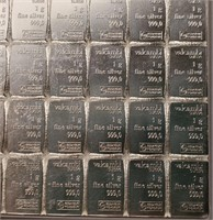 100 G .999 SILVER 100 X 1G EACH (62)