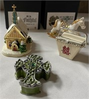 122 - LOT OF 4 ADORABLE TRINKET BOXES