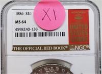 """1886 """"MS64"""" - MORGAN SILVER DOLLAR (X1)"""