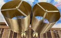 PAIR OF BEAUTIFUL MATTE BRASS TABLE LAMPS ($149.9)