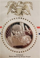 50 - LOT OF 47 STATE STERLING SILVER PROOF MEDALS