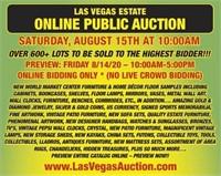 HUGE LAS VEGAS ESTATE ONLINE PUBLIC AUCTION