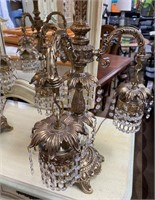 714 - GORGEOUS PAIR OF ANTIQUE TABLE LAMPS