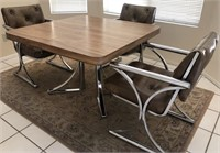 36 - BEAUTIFUL MODERN SQUARE TABLE W/ 3 CHAIRS