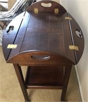 36 - BEAUTIFUL FOLD DOWN SIDE TABLE ON WHEELS