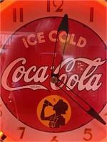 N - ICE COLD COCA~COLA NEON MOTION CLOCK