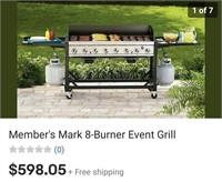 C - NEW MEMBER'S MARK 8 BURNER EVENT GRILL