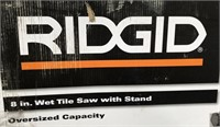 C - RIDGID 8 IN WET TILE SAW W/ STAND