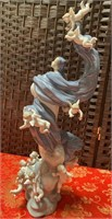 N - DOUBLE SIGNED LLADRO BLESSED LADY W/CERT & BOX