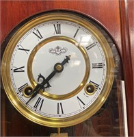 343 - BEAUTIFUL CARVED WOOD HORSE WALL CLOCK