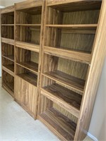 714 - BEAUTIFUL SOLID WOOD ENTERTAINMENT CENTER