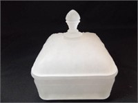 """Tiara Frosted Candy Dish 6"""" tall x 5"""""""