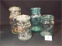 Atlas (2), Ball Blue (2) Jars