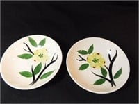 Bahl Pottery Plate, Bowls (2), Cups (2)