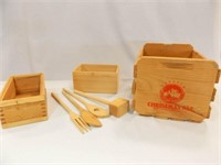 Wood Boxes, Utensils, Wasatch Crate
