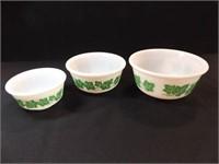 Hazel Atlas Ivy Nesting Bowls (3)