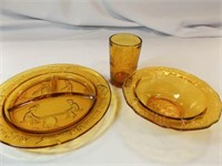 Amber Children's Dishes, Tiara (4)