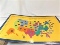 Quarter Collectors Map, World Map Poster