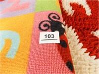 Rugs- OU Oval, Alphabet Rectangle