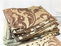 Curtains, Pillows, Bed Skirt Set