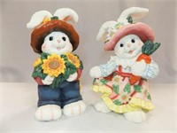 "Plaster Type Rabbits, 14"" (2)"