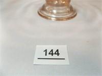 Glass Bowl, Pink, Pedestal