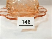 Glass Domed Piece, Pink