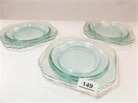 Madrid Luncheon Plates, Blue (6)