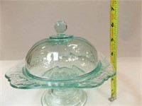 Madrid Cake Plate/Butter Dish, Blue