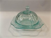 Glass Domed Piece, Blue