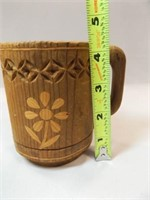 Folk Art, Enamel Coffee Cups (2)