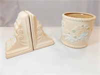 Floral Canister, Floral Bookends
