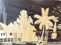 1955 Japanese Silk & Straw Art (2)