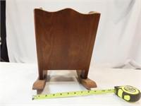 "Rocking Chair Planter, Wood 12"" x 12"" x 9"""