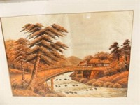 1950's Japanese Silk Embroidery Art