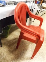 Plastic Chairs (2), Fan, Light, Crutches, More
