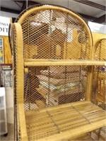 "Wicker Shelf Unit, 4 Shelves, 66"" x 31"" x 14"""