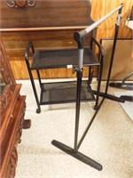 Black Metal Rolling Cart, Clothes Rack