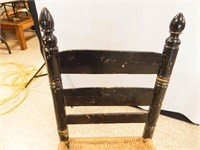 "Cane Seat Chair, 32"" tall"