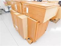 7- wood cabinets