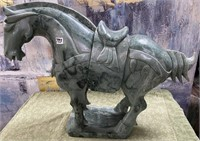 793 - SOLID STUNNING HEAVY JADE HORSE