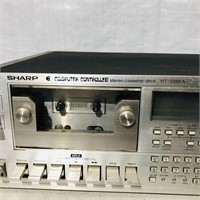 Sharp Stereo Cassette Deck RT3388A -NOT TESTED