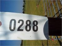 "New Arbor 90"" tall, 30"" panel, 41"" opening"