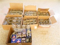 Canning Jars; Assorted Sizes; (70)