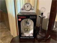 2 clocks, light