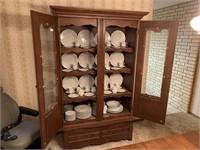 Vintage oak china cabinet