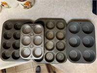 Cast iron pans, muffin tins, etc.