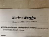 Kitchen Worthy 1/2 Pound Bread Maker
