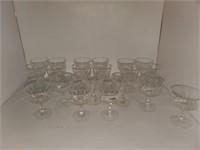 20 - Crystal Short Stem Glasses